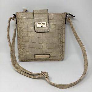 Marc New York Andrew Marc Beige Croc Purse Bag
